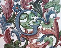 Mobilier pictat - decor vegetal eclectic