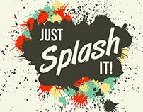 Just Splash It! Grunge vector blots and splashes elemen