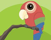 Cute Bird Vector Design