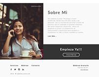 Personal web - Cliente - Proyecto en desarollo