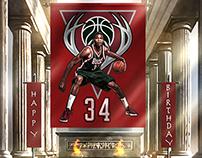 NBA Birthday Graphic