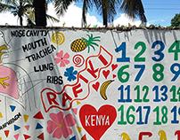 Mural at School in Kenya