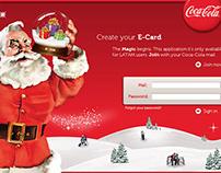 Coca-Cola Christmas E-card - Web app