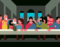 the Last Supper -with a Drawing app-