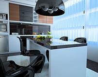 Pentrhouse Luxury Kitchen Interior Design