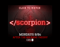 Scorpion CBS digital ad campaign