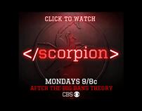 Scorpion CBS digital ad campaign