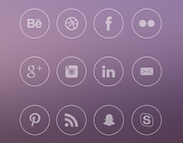 Free Simple Round Social Icons
