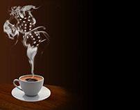 Coffee Gamble Shop Logo Design