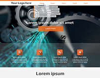 Free Web PSD Template