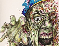 Zombie skin tone with Copic Markers