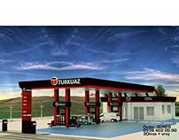 Petrol Ofisi Tasarımı (Gas Station Design)