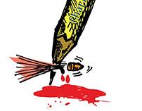 Charlie Hebdo homage