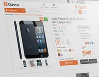 Oteena e-Commerce Website - UX | UI