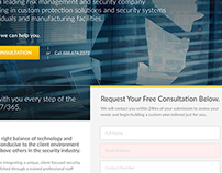 Acrux Security Landing Page