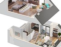 3D apartaments