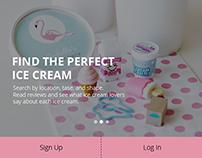 UI/UX Design Ice Cream