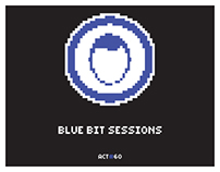Coletivo Action's Blue Bit Sessions poster series