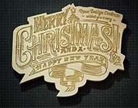 Holidays greating card