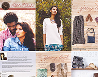 Old Khaki Spring 2014 Catalogue design