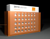 Orange 2013 Calendar