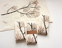 Forest fabric print series