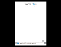Water Icon Letterhead Redesign