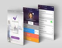 CLEVORK APP - Logo, Branding and UX / UI design concept