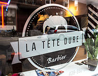 Branding for La Tête Dure Barber