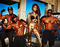 Cindy Bruna / Muscle beach / French revue de mode