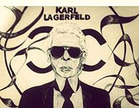 karl lagerfeld illustration portrait