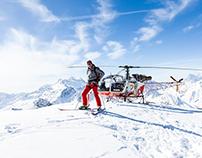 Heli skiing with Jorn Werdelin