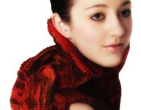 Shibori Scarfs fashion photography