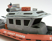 Paper Coast Guard Boat