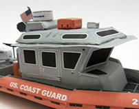Paper Coast Guard Boat