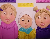 Family portraits made of clay
