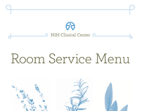 NIH Clinical Center Room Service Menus