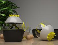 EggTwister Concept 3D Design