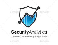 Security Analytics Logo Template