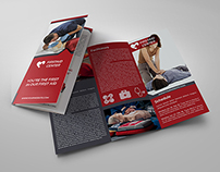 First Aid Training Tri-Fold Brochure Template