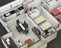 3D Floor Plans and Axonometric Views