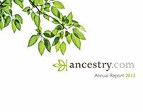 Annual Report for ancestry.com - Publication Design