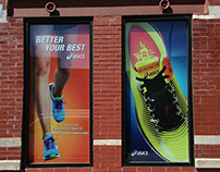 ASICS Retail Barricades & Pre-Opening Graphics