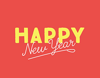 Happy New Year typography animation