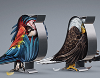 DEVLYN OPTICIANS. PRINT CAMPAIGN. / BIRDS
