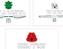 LEGO: BIONICLE Toa Nuva Graphic Illustration