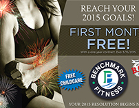 Benchmark Fitness Newspaper insert