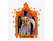 HARRY POTTER CARD DUMBLEDORE EMBROIDERY DESIGN