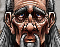 Wise Man Cartoon Character Sketch