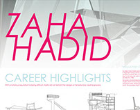 Zaha Hadid Biography Poster - Information Design